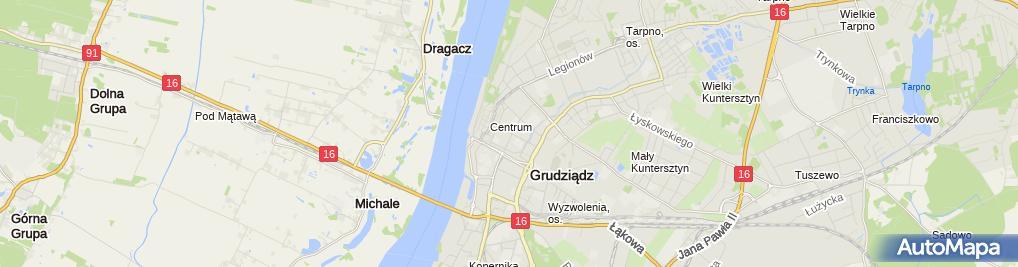 Zdjęcie satelitarne Biuro Obsługi i Wycen Nieruchomości BON sp. z o.o.