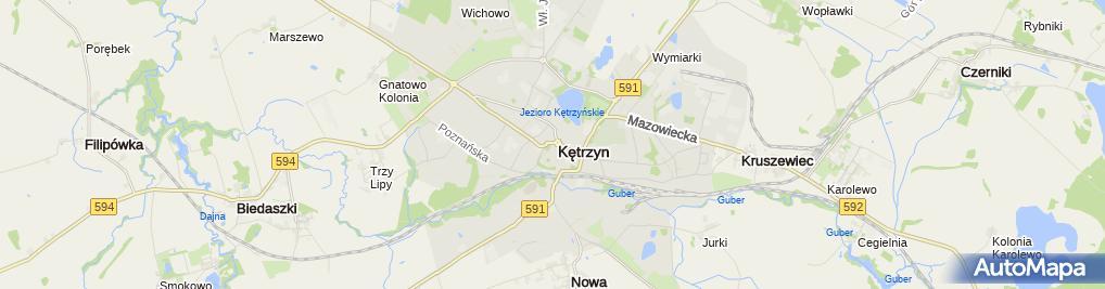 Zdjęcie satelitarne Osiołek