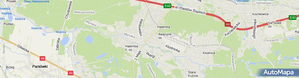 Zdjęcie satelitarne MB Różańcowej
