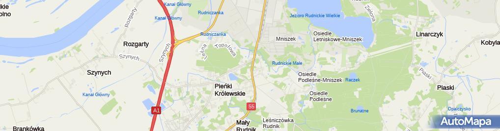 Zdjęcie satelitarne Parafia pw. św. Andrzeja Boboli