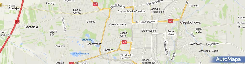 Zdjęcie satelitarne Sanktuarium NMP Jasnogórskiej