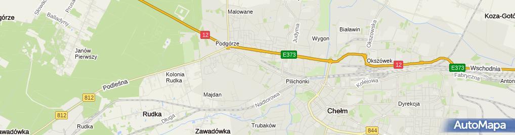 Zdjęcie satelitarne św. Kazimierza