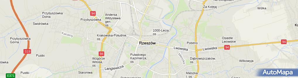 Zdjęcie satelitarne FASTRENTAL.PL wypożyczalnia samochodów Rzeszów Przemyśl