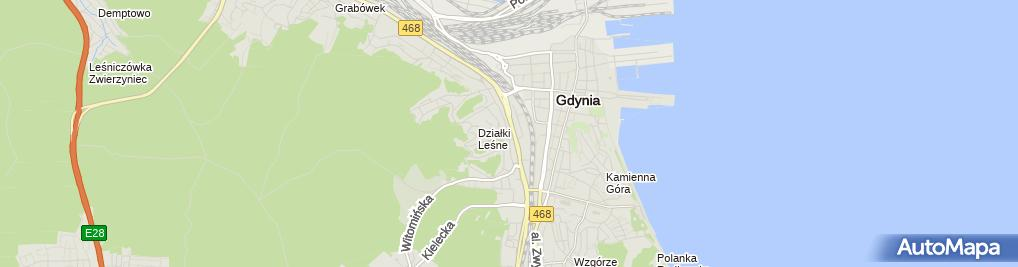 Zdjęcie satelitarne Wypożyczalnia Samochodów Gdynia