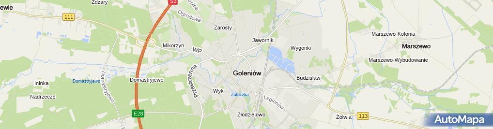 Zdjęcie satelitarne Inchem Zakład Produkcyjno-Usługowo-Handlowy Zbigniew Uciurkiewic