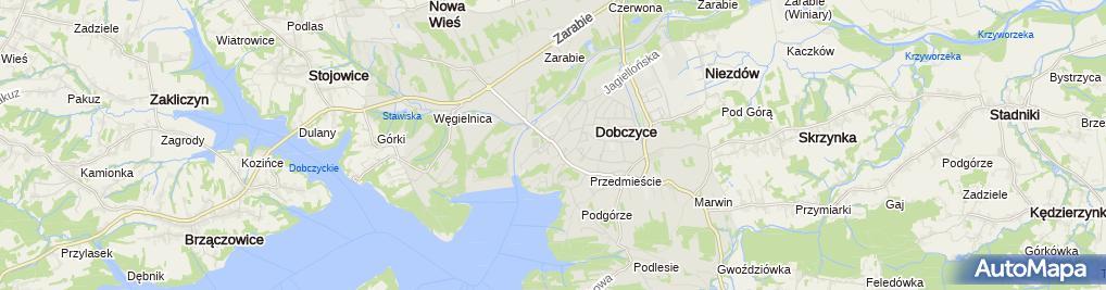 Zdjęcie satelitarne BS Dobczyce