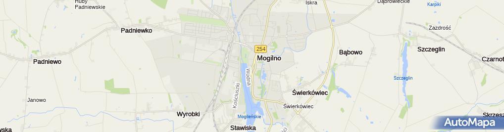 Zdjęcie satelitarne BS Gniezno