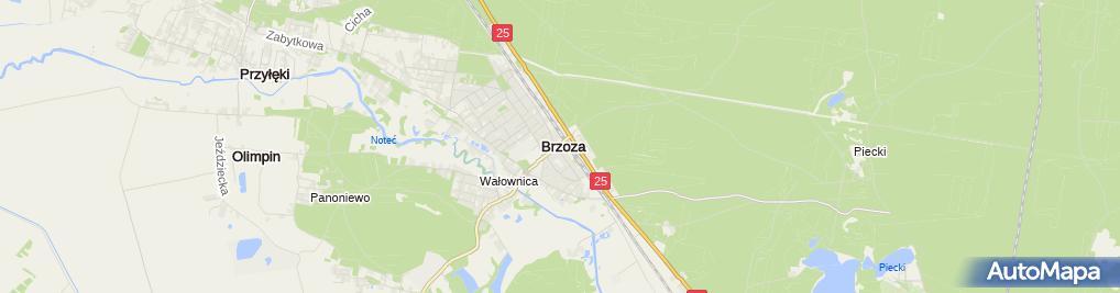 Zdjęcie satelitarne BS Nakło n/Notecią