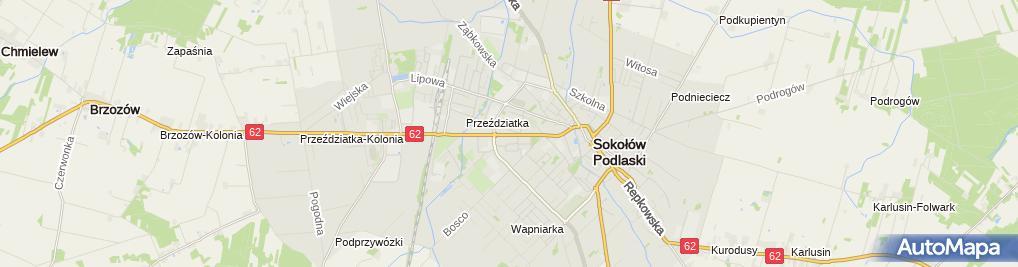 Zdjęcie satelitarne BS Sokołów Podlaski - PBS