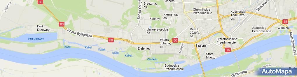 Zdjęcie satelitarne BS Toruń