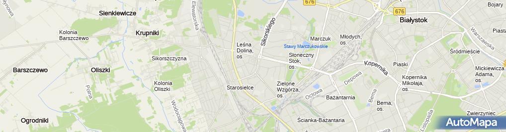 Zdjęcie satelitarne Bank Spółdzielczy w Białymstoku