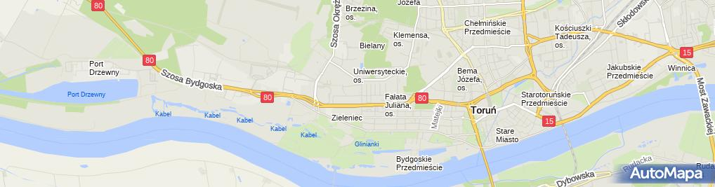 Zdjęcie satelitarne Bank Spółdzielczy w Toruniu