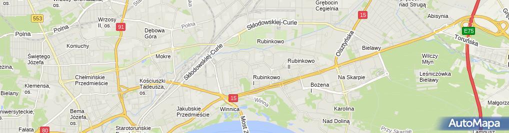 Zdjęcie satelitarne Paluszek