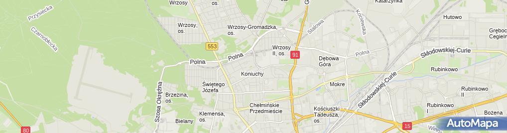 Zdjęcie satelitarne Kulaszewski Stanisław Usługi Ślusarskie, Handel