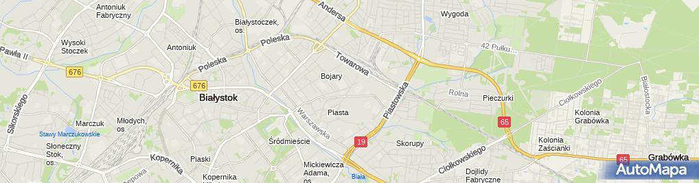 Zdjęcie satelitarne Produkcyjno - Usługowy Zakład Ślusarski Leszek Panas