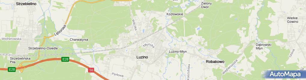 Zdjęcie satelitarne Usługi Ślusarskie - Tokarskie Roman Dampc