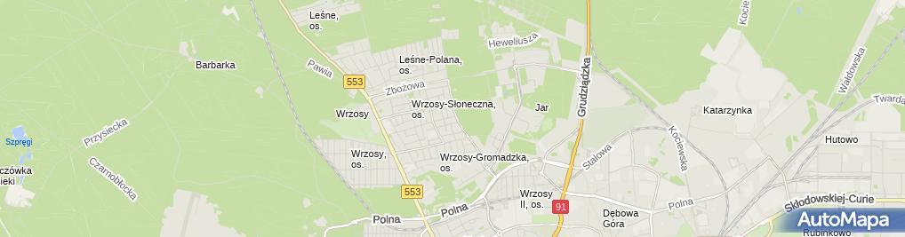 Zdjęcie satelitarne Usługi Ślusarskie