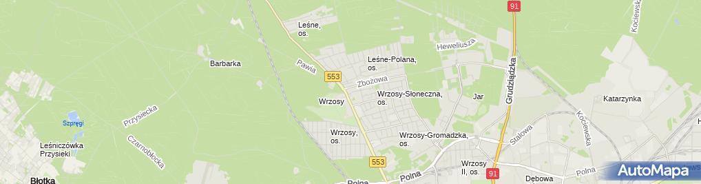 Zdjęcie satelitarne Usługi Ślusarsko Stolarskie Nader Andrzej
