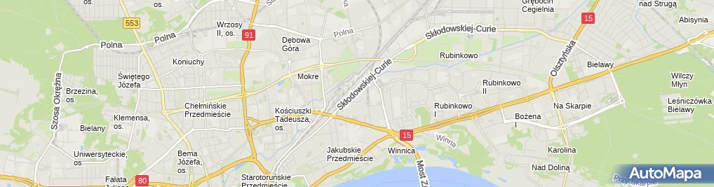 Zdjęcie satelitarne Zakład Usługowo Wytwórczy AD REM S C Dziewit Piotr Rosiński Mari