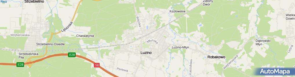 Zdjęcie satelitarne Solarium TropicalSun Luzino