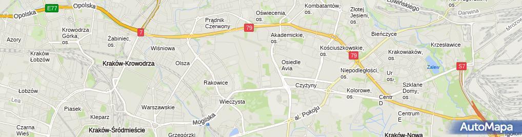 Zdjęcie satelitarne Krakowski Park Technologiczny Sp. z o.o