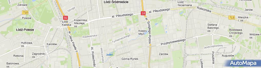 Zdjęcie satelitarne Łódzka SSE