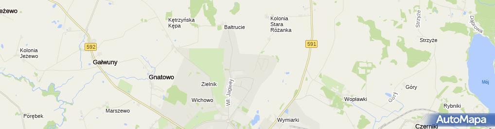 Zdjęcie satelitarne Alfred Olszewski Sklep Spożywczo-Chemiczno-Odzieżowy