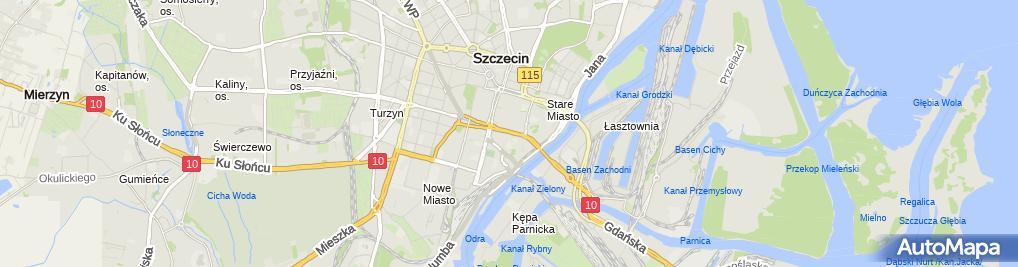 Zdjęcie satelitarne Kiosk Warzywno Owocowy Sklep Warzywno Owocowy