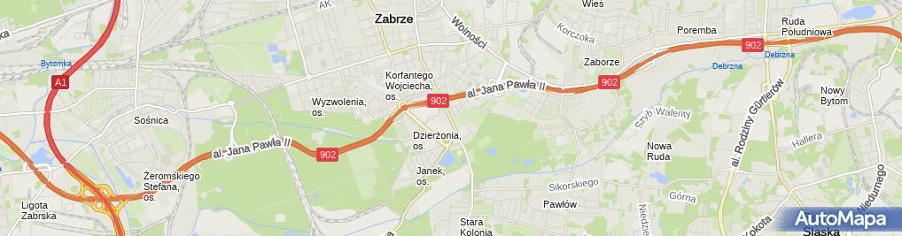 Zdjęcie satelitarne Sklep Kontynent Rzeszotarski Jan Rzeszotarska Dagmara