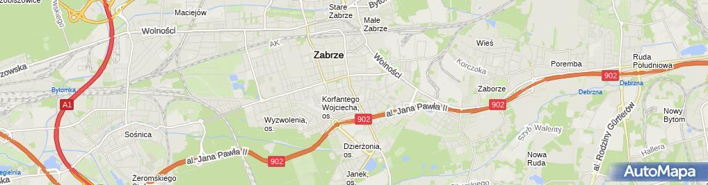 Zdjęcie satelitarne Sklep Ogólnospożywczy Wila Wiesław Laskiewicz Maria Laskiewicz
