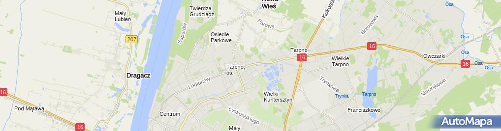 Zdjęcie satelitarne Sklep Spożywczo Przemysłowy Sieniawska Donata Witas Monika