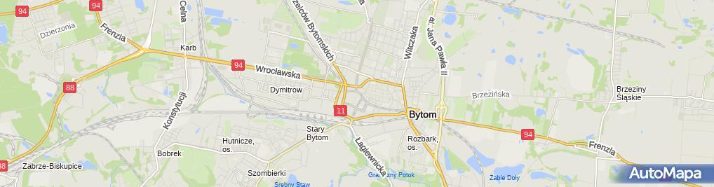 Zdjęcie satelitarne Społem Powszechna Spółdzielnia Spożywców w Bytomiu