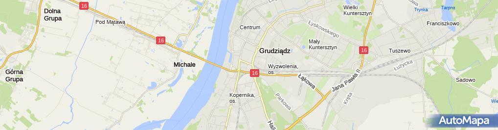 Zdjęcie satelitarne Regionalne Centrum Krwiodawstwa w Bydgoszczy