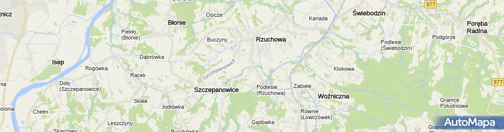 Zdjęcie satelitarne SKR Ruchowa