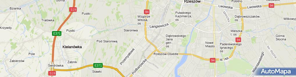 Zdjęcie satelitarne Stacja paliw