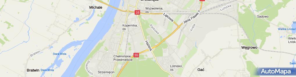 Zdjęcie satelitarne Grudziądzki Klub Motocyklowy S.A.