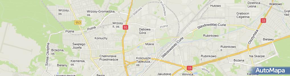 Zdjęcie satelitarne Starostwo Powiatowe