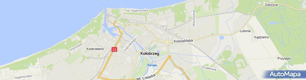 Zdjęcie satelitarne Stokrotka - Supermarket