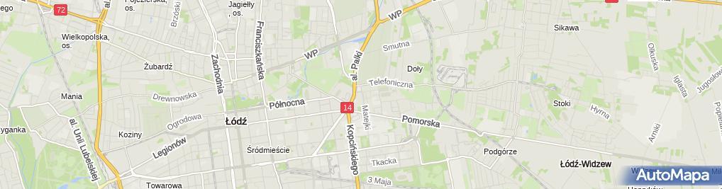 Zdjęcie satelitarne Pizzeria 105