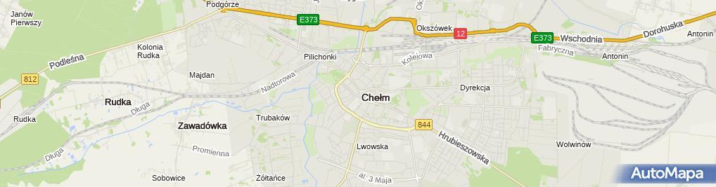 Zdjęcie satelitarne Automobilklub Chełmski