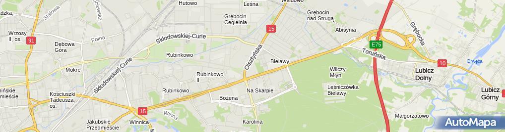 Zdjęcie satelitarne Jednostka Ratowniczo-Gaśnicza-3