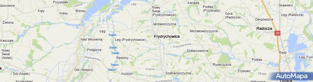 Zdjęcie satelitarne Ochotnicza Straż Pożarna Frydrychowice