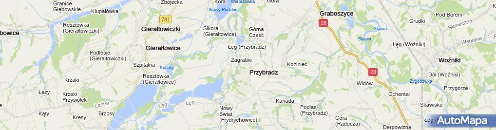 Zdjęcie satelitarne Ochotnicza Straż Pożarna Przybradz