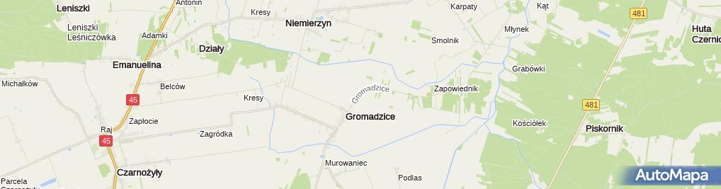 Zdjęcie satelitarne Ochotnicza Straż Pożarna w Gromadzicach
