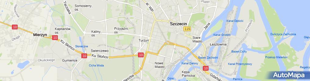 Zdjęcie satelitarne Strefa płatnego parkowania