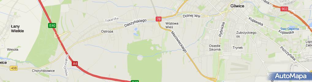 Zdjęcie satelitarne Strzelnica Wojskowa