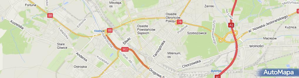 Zdjęcie satelitarne Strzelnica