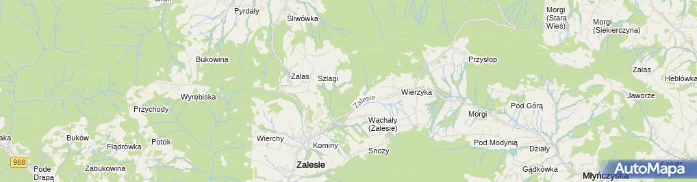 Zdjęcie satelitarne Suchy Groń