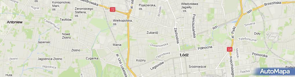 Zdjęcie satelitarne Ogólnokształcąca Szkoła Sztuk Pięknych Im. Tadeusza Makowskiego
