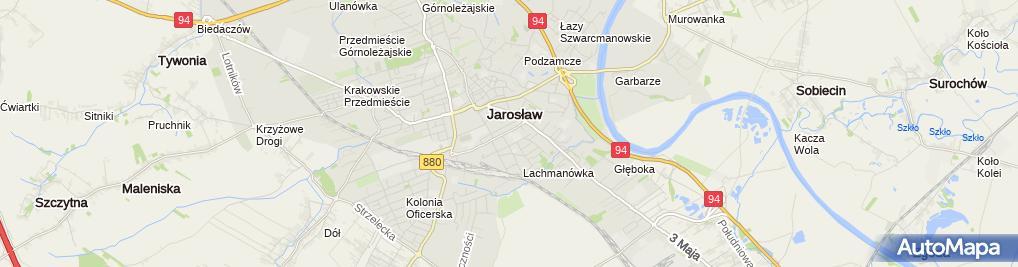 Zdjęcie satelitarne Branżowa Szkoła I Stopnia Nr 1 W Jarosławiu